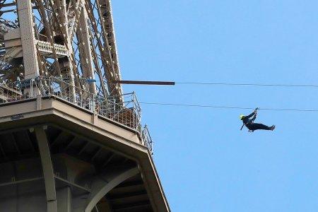 Hey Everyone, Let's Go Ziplining Off the Eiffel Tower