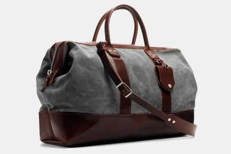 Drop the Roller Bag: Take $165 Off This Waxed Canvas and Leather Carryall
