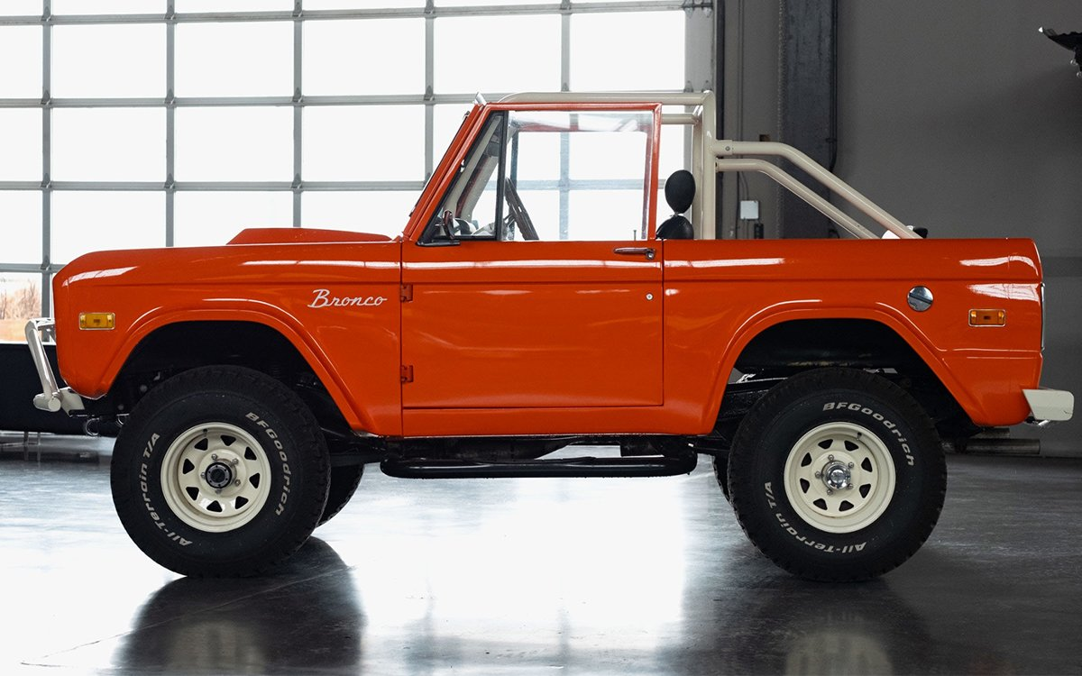 One Safety-Vest Orange '69 Bronco, Now Taking Bids