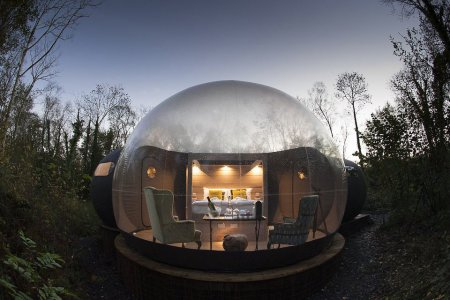 Stay the Night in a Transparent Bubble Cabin in Northern Ireland