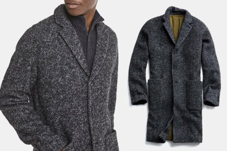 This Exquisite Herringbone Topcoat Is $540 Off. We Don't Know Why.
