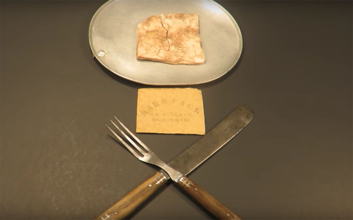 Watch a Man Eat a Cracker From 1863, Live to Tell About It