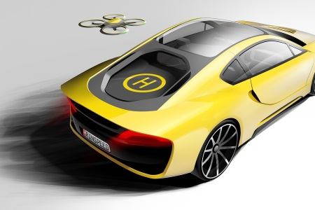 This Car Comes With Its Own Drone