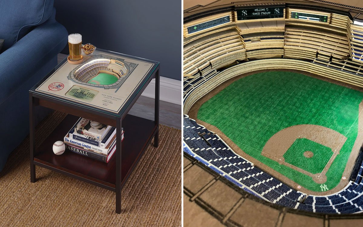 These Baseball-Stadium End Tables Belong in Your Den