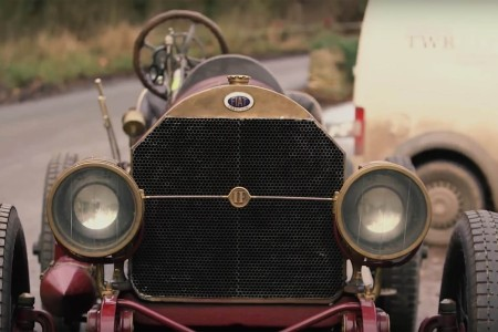 Yup, That's a 1905 Fiat with a World War I Airship Engine