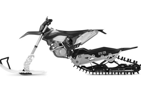 Let Your Dirt Bike Play in the Snow With This Conversion Kit