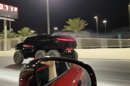 Devel's 6-Wheeled, Bat-Out-of-Hell SUV Smokes a Mercedes-AMG GT — Literally