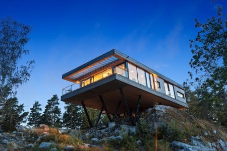 Swedish Seaside Getaway on Stilts, Anyone?