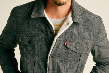 This Levi's x Outerknown Sherpa Trucker Is 40% Off. Make Moves.