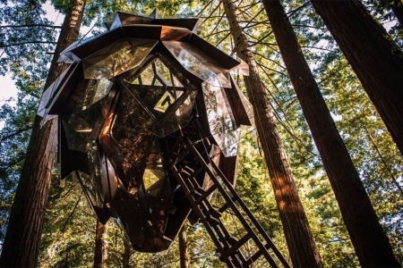 For Sale: A Pinecone-Shaped Treehouse in the Redwoods