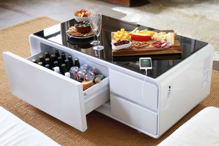 This Coffee Table Chills Beer, Charges Your Phone and Is $200 Off