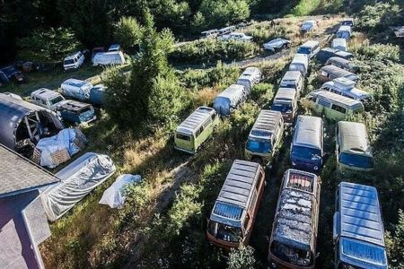 A Collector Just Put 55 Vintage VW Camper Vans Up for Sale