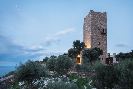 In Greece, a 19th-Century Defense Tower Is Now a Boutique Hotel