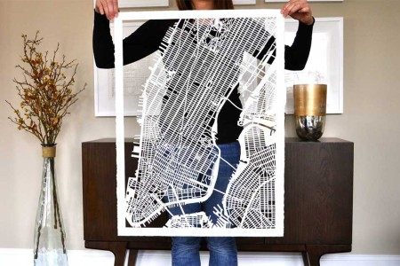 This Shop Meticulously Hand-Cuts Street Maps of Cities Around the Globe