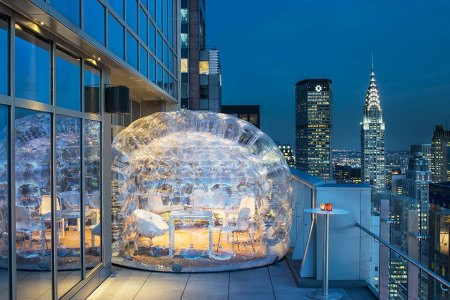 Drink Bubbly. In a Bubble. On a Rooftop.