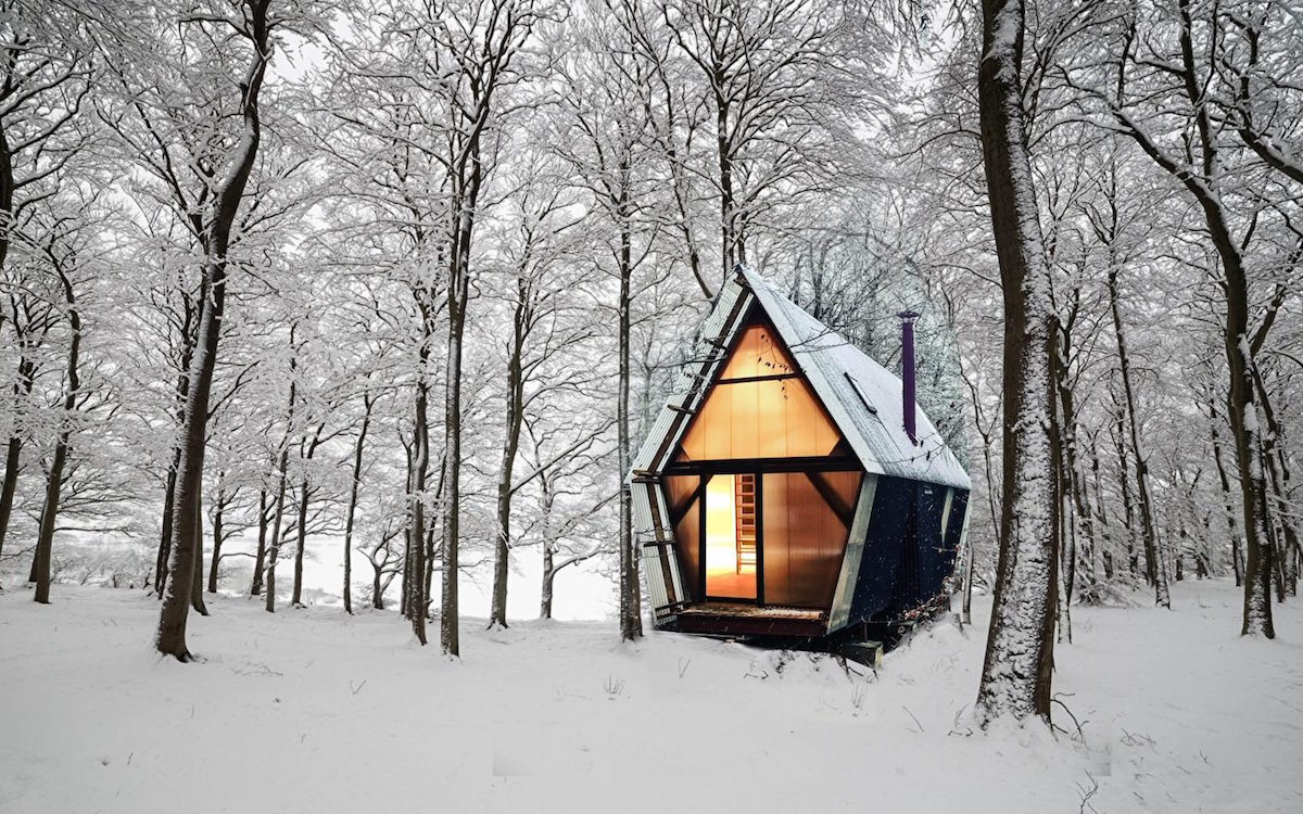 Live Deliberately in This $28K Cabin Built From Construction Waste