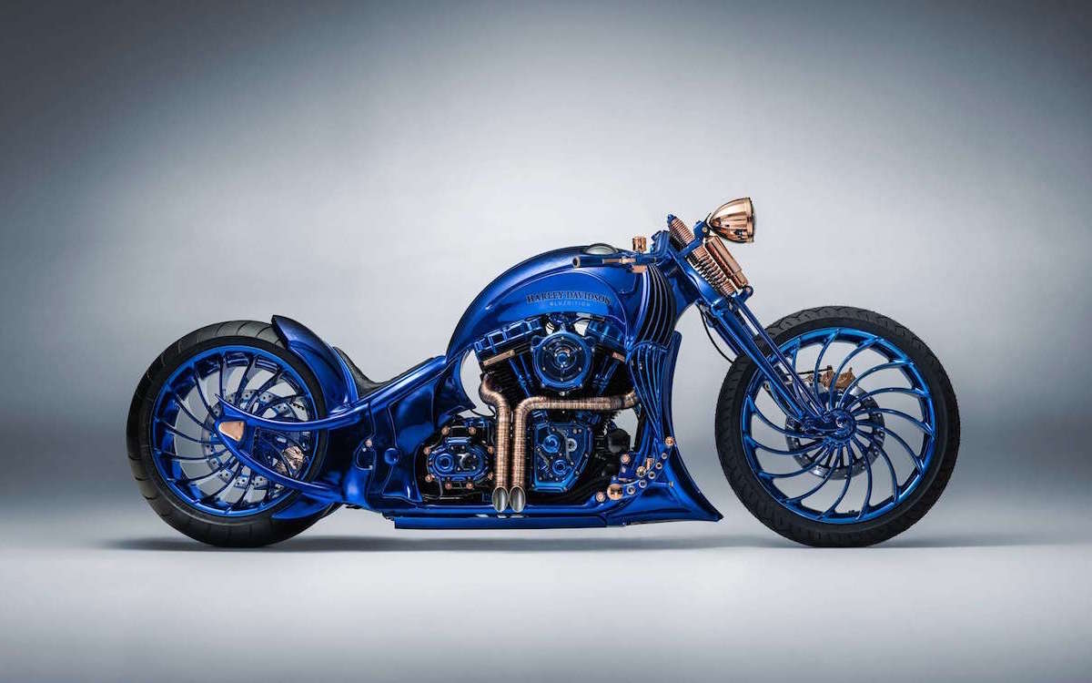 Gold-Plated, Cobalt-Blue Harley Is the Most Expensive New Bike Ever Built
