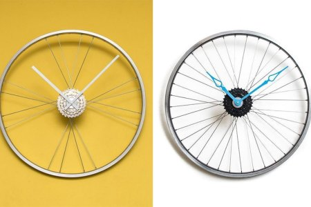 These Offbeat Wall Clocks Are Made from Recycled Bicycle Wheels