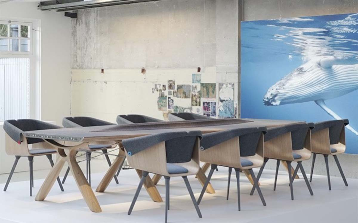 This 'Plastic Fishing Company' Turns Water Bottles Into Stunning Furniture