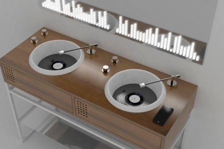 Bathroom Sinks Inspired by Turntables? It's a Yes from Us, Dog.