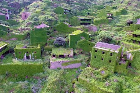 Someone Made a Drone Video of an Abandoned Village That Nature Reclaimed