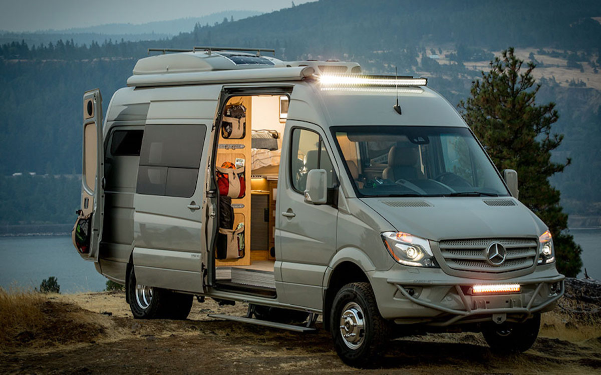 Outside Van Off Grid Mercedes Benz Sprinter Power Station