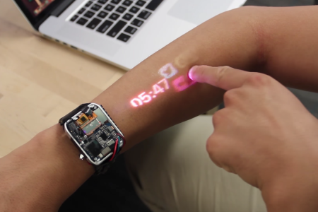 Stand in Awe as This Smartwatch Projects a Touchscreen on Your Arm
