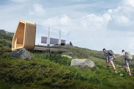 This 'Smart' Cabin Acts as a Lighthouse for Lost Hikers