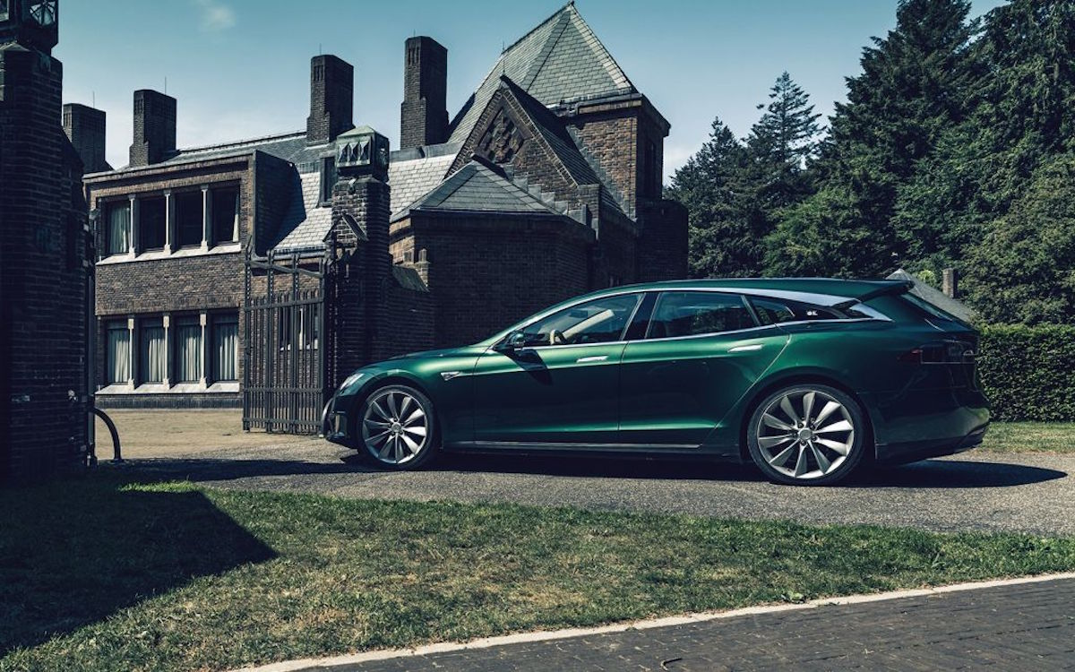 Someone Turned a Tesla Into a Station Wagon and It's a Beaut