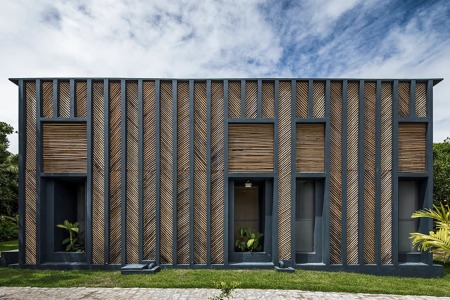 The Award for Best Use of Herringbone Goes to This Bamboo House