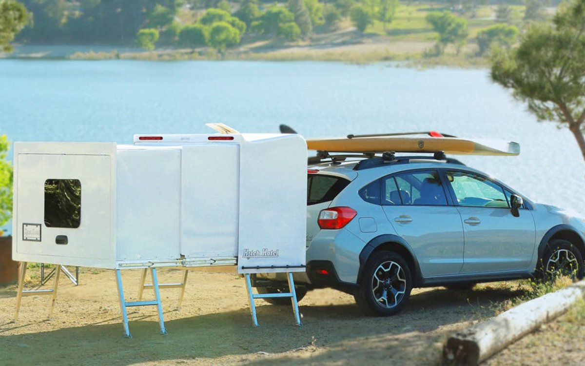 'Hitch Hotel' Is a Telescopic Trailer Your Car Wears Like a Backpack
