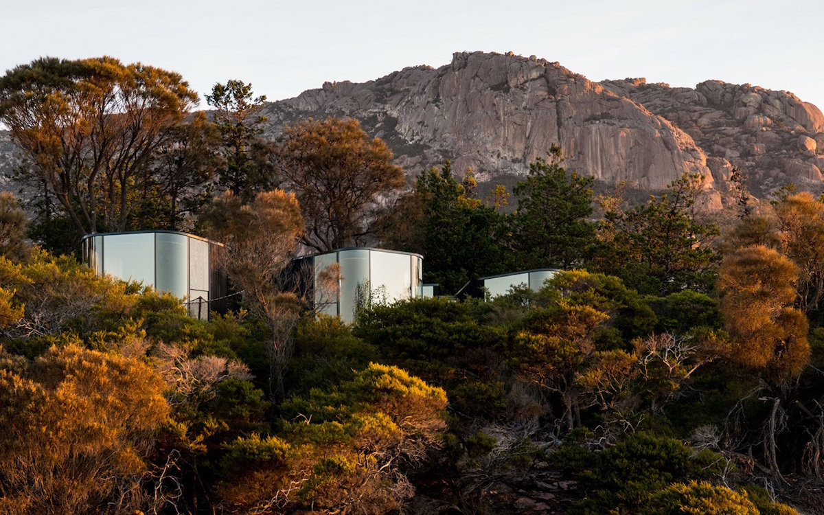 Australia's Most Peaceful Campsite Has Glass Pods, Outdoor Tubs
