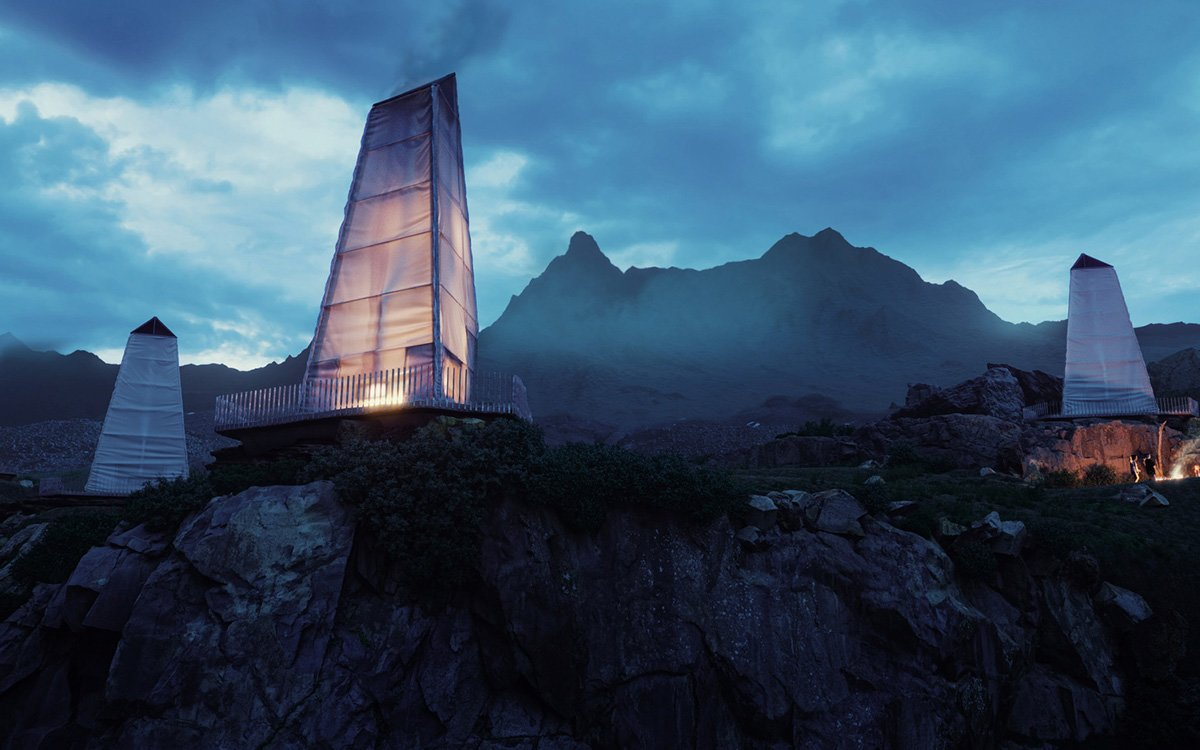 Someone Make These Icelandic Tent Concepts a Reality, Stat