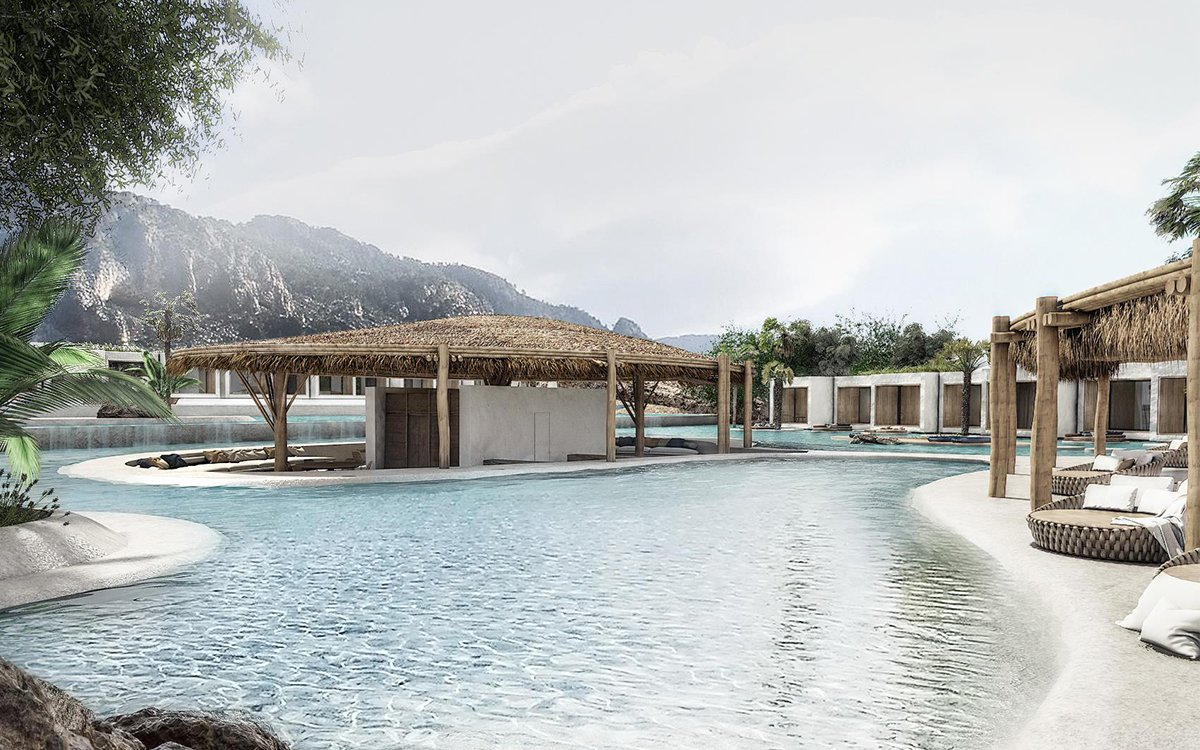 If the Greek Gods Built a Spa on Mount Olympus, It'd Look Like This