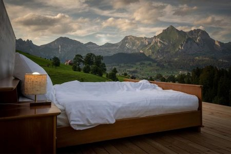 This Swiss Alpine 'Room' Comes With a Bed, and Only a Bed