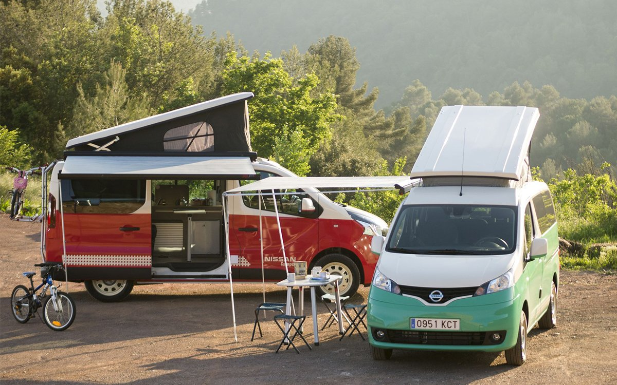 Nissan's New Pop-Top Campers Are All-Electric, Ready to Party