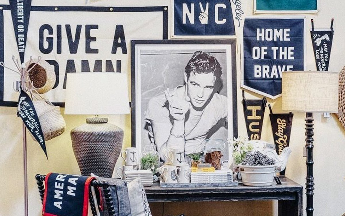 Your Walls Deserve These Cheeky, Old-School Custom Pennants