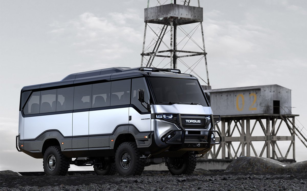'The Mountain' of Campers Is an Off-Roading Bus That Seats 35