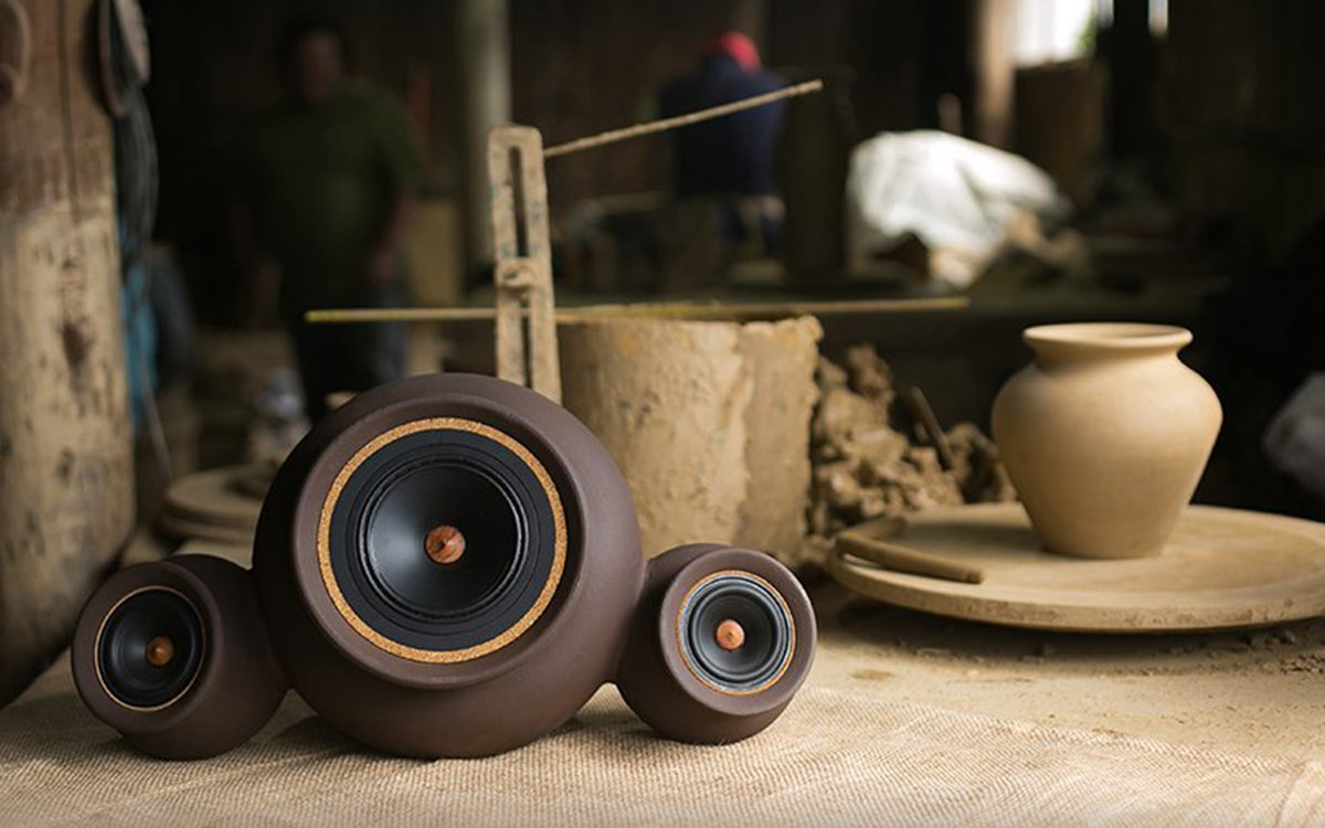 These Hand-Thrown Clay Speakers Are Kiln-Fired, Bluetooth-Ready