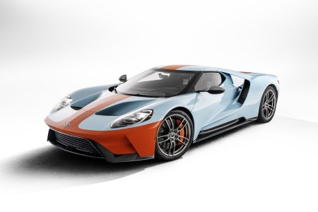 The Iconic Gulf Oil Livery Is Back for Ford's 50th-Anniversary GT