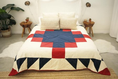 These All-American Quilts Are Hand-Stitched in an Airstream