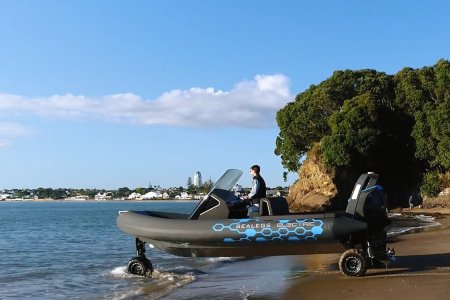 Bypass the Boat Launch in This Electric Amphibious Vehicle