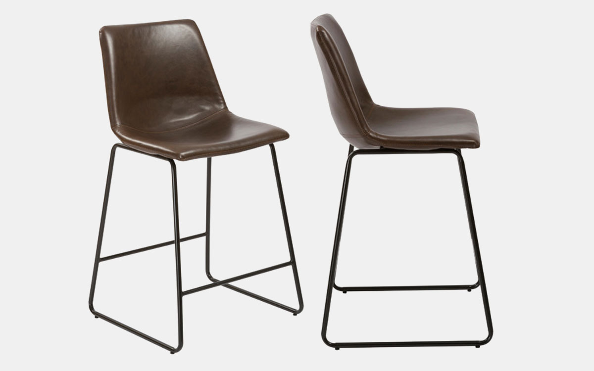 Pick Up a Pair of Great-Lookin' Leather Barstools for Under $100