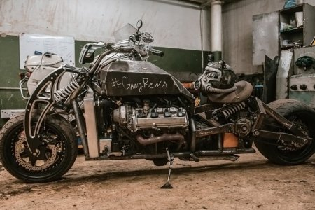 Nothing to See Here, Just a Motorcycle Powered by a Lexus V8 Engine
