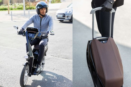 This Sleek Electric Scooter Folds in Two Like a Roller Suitcase