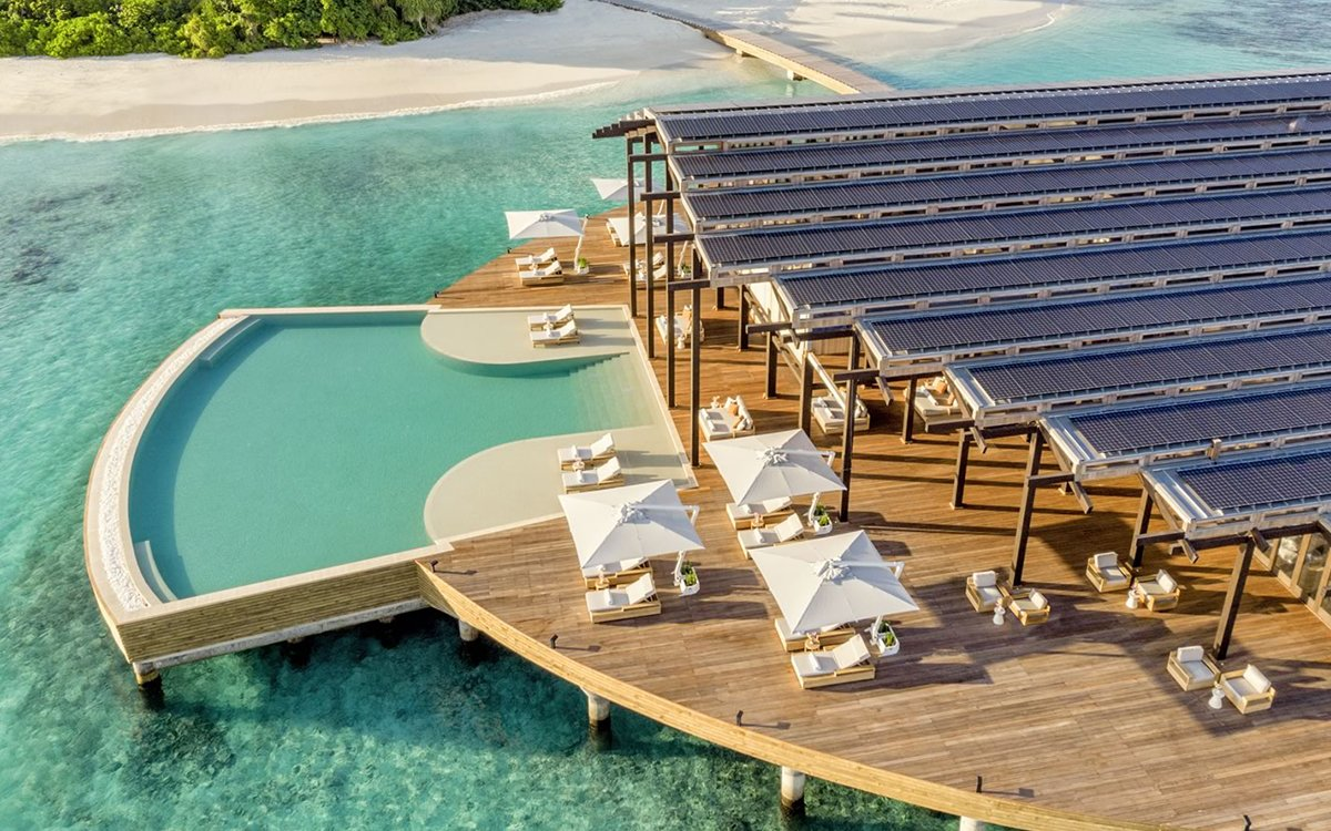 One Solar-Paneled Cabana Powers This Entire Maldives Resort