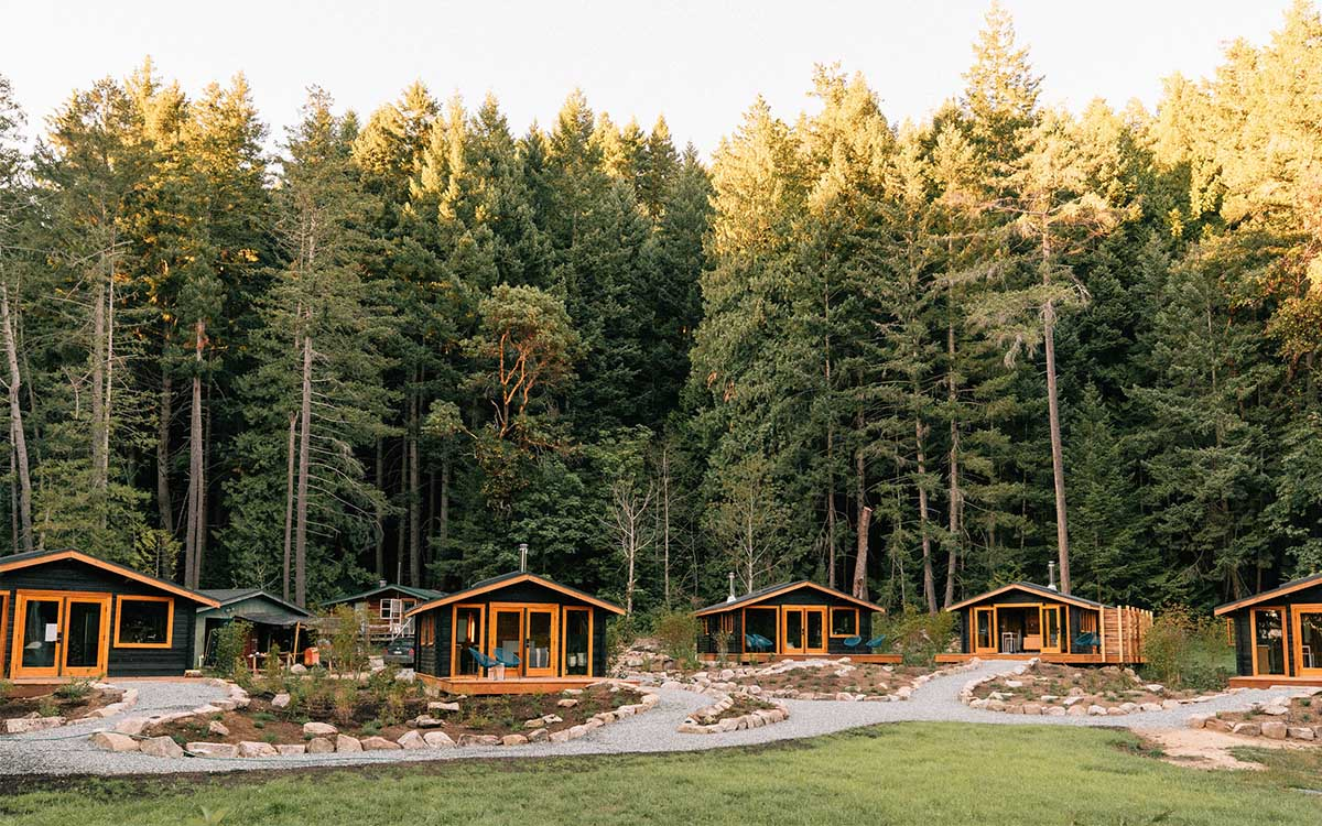 Need Us? We'll Be in a Restored Cedar Cabin Off the Coast of Vancouver.