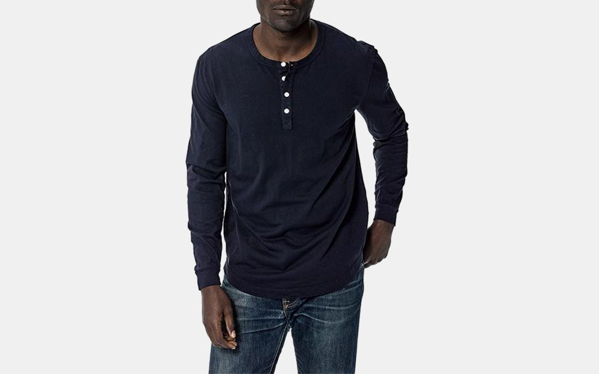 henley shirt, buck mason