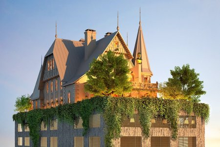 Philippe Starck's First Hotel Appears to Have an English Country Home on the Roof