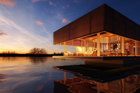 Let's All Sell Our Houses and Start a Colony of These Gorgeous Houseboats